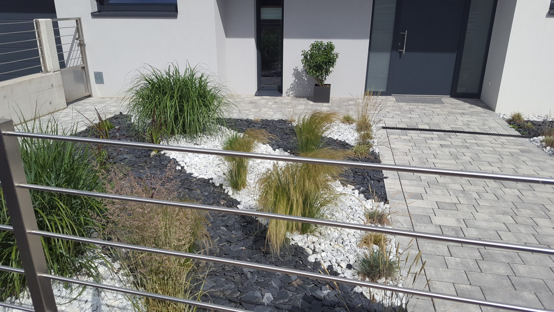 gräser und steine -, Wohnzimmer dekoo